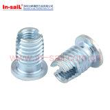 Azul chapeado das inserções rosqueadas da Auto-Estaca zinco Case-Hardened de aço
