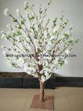 Árbol artificial de seda decorativo de la flor blanca del ciruelo del melocotón del vector