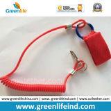Остановите упасть коготь веревочки W/Lobester безопасности инструмента катушки весны красный