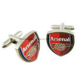 Cufflinks логоса клуба футбола металла оптовых изготовленный на заказ людей способа