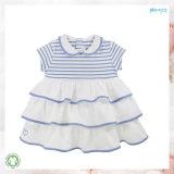 Vestido orgânico branco do bebê do algodão do vestuário 100% do bebê
