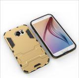 Случай самого лучшего мобильного телефона PC и TPU цены цветастый с стойкой для края галактики S7 Samsung