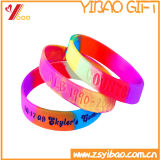 Wristband luminoso colorido do silicone com logotipo de Debossed (YB-AB-025)