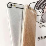 Cas mou de téléphone mobile du scintillement mobile TPU des accessoires IMD Bling pour le cas d'iPhone