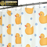 Cortinas de chuveiro do pato da novidade da cortina de chuveiro do banheiro do poliéster