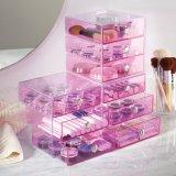 Simple por el organizador de acrílico del maquillaje del almacenaje casero práctico