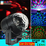 Горячая Продажа 5V 3W автомобиль DJ Light Mini RGB LED Disco DJ Flash Light для автомобиля СИД Magic Ball Light