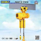 Alzamiento de cadena eléctrico de las ventas calientes de Brima 3t con la carretilla eléctrica