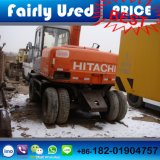 Máquina escavadora usada da roda de Japão Hitachi da máquina escavadora da roda de Hitachi Ex100wd-2