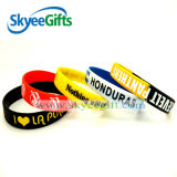 Wristband impresso costume do silicone do logotipo