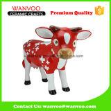 Statue de vache à Noël de cadeau de porcelaine d'enfants pour le cadre d'économie