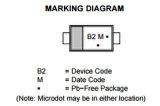 Diode de redresseur de pouvoir de Schottky de support de surface de composante électronique Mbr0520lt1g