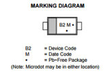 Электронный блок поверхностного выпрямителя тока Mbr0520lt1g силы Schottky держателя