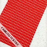 Tessuto di nylon dell'indumento del merletto del cotone vuoto prismatico di disegno