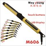 Últimos botões de toque 8 Tons Visor LCD Mch Ceramic Rotating Hair Curling Iron