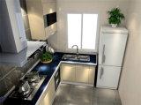 白いメラミン現代オーブンの食器棚