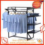 Estante colgante de la ropa del soporte de visualización de la ropa del metal para el almacén