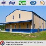 Edificio de acero del marco porta prefabricado para el taller con el pabellón