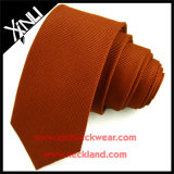 Gravata barata tecida do poliéster da cor contínua