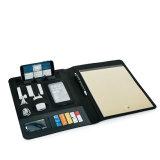 Lederner Datei-Halter-Multifunktionstelefon-Standplatz und Energien-Bank