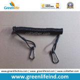 Dispositivo retractable W/Steel Carabiner de la seguridad del resorte del cable resistente de la bobina