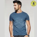 Las últimas camisas redondas 100% del verano del algodón del OEM del diseño de la camiseta del cuello de la venta al por mayor para los hombres