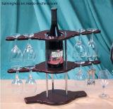 Porte-bouteilles classique de crémaillère en verre de vin de Double couche