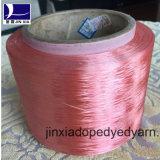 FDY 진한 액체에 의하여 염색되는 400d/96f 필라멘트 폴리에스테 털실