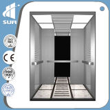 Elevador residencial do aço inoxidável do espelho da velocidade 1.0m/S- 2.0m/S