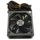 Stromversorgung mit Farben-Ventilator-Silber-Kasten passte an