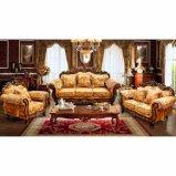 O sofá de madeira ajustou-se com a tabela de canto para a mobília Home (D929B)
