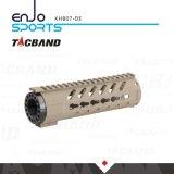 """Tacband taktische Keymod Handguard 7 """" Spitzenschienen-flache dunkle Masse des freien Gleitbetriebs-W/Picatinny"""