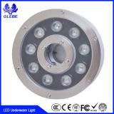 indicatore luminoso subacqueo della fontana LED del materiale DMX RGB 9W 12W dell'acciaio inossidabile di 12V IP68