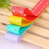Wärmeübertragung-gedrucktes multi Farben-Satin-Regenbogen-Farbband