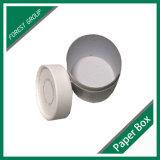 円形のボール紙の白いギフト用の箱