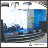 Estágio do equipamento do concerto, estágio de alumínio/montante