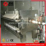 Prensa de filtro del marco de la placa de la categoría alimenticia para el aceite de cocina comestible