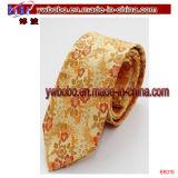 Gravata tecida do casamento do partido dos homens da planície da cor contínua do laço jacquard de seda magro magro (B8060)