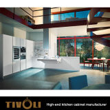 流行の白いラッカーヒッコリーの食器棚Tivo-0154V