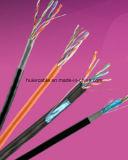 Cable UTP Cat5e de la red de la alta calidad del precio bajo con la inundación y la chaqueta dual