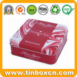 식품 포장 상자 과자 건빵 식사를 위한 8각형 금속 주석