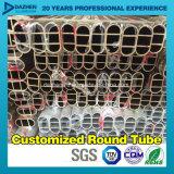 Profil en aluminium de pipe ronde ovale de tube avec le moulin anodisé terminé