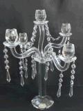 De Houder van de Kaars van het kristal met Vijf Affiches voor Decoratie Hoem