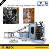 Máquina de termoformagem automática de recipientes de plástico com empilhador