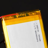 Base incorporada del litio del polímero de la potencia móvil universal de gran capacidad de la batería 8055100 3.7V 5000mAh