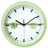 Reloj de pared grande plástico de Hunging para la decoración casera