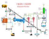 Equipamento de secagem do estrume/secador giratório para o estrume