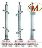 Columna de cristal del acero inoxidable del uso del pasamano