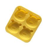 Winnie Pooh el molde del chocolate del silicón del molde de la torta del silicón de la dimensión de una variable/molde del hielo del silicón