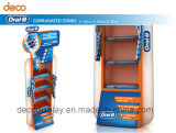 Gewölbtes Papier-Fußboden-Ausstellungsstand-Pappbildschirmanzeige-Zahnstange für Förderung